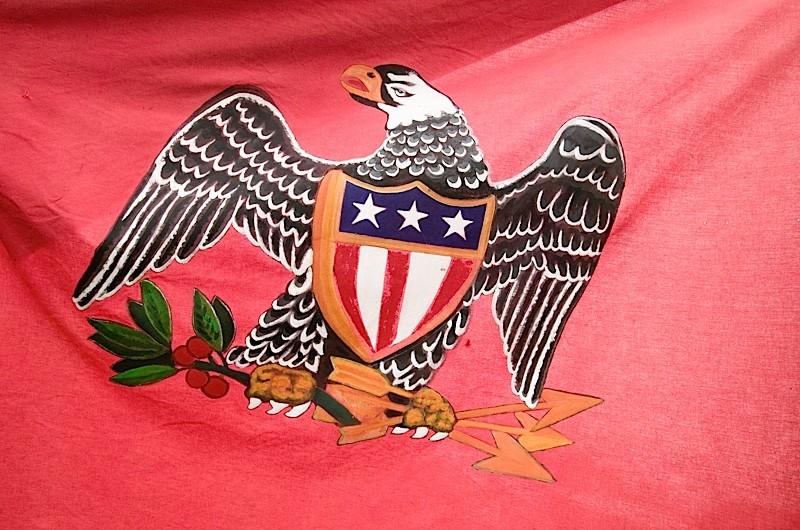 Early American patriotic flag. (Visions of America/UIG via Getty images)
