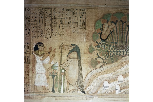 From The Book of the Dead of Userhetmos, the dead woman prays to the hippopotamus goddess Taweret.