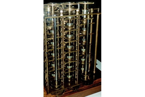 Babbage's Difference Engine No. 1, 1832. This trial portion of the Difference Engine is one of the earliest automatic calculators. (Photo by Universal History Archive/UIG/Getty Images)