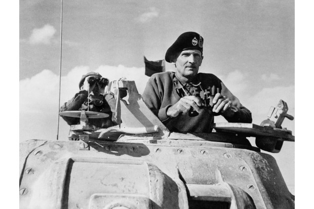 Lieutenant General B L Montgomery watches the beginning of the German retreat from El Alamein, November 1942. (Photo by Capt. G Keating/ IWM via Getty Images)