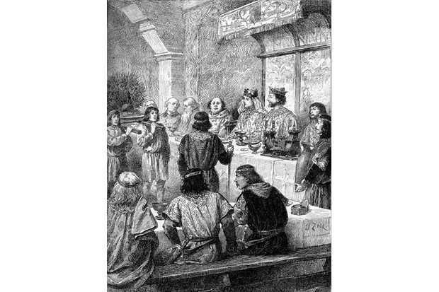 The marriage banquet of Eleanor of Provence and Henry III. (Photo by Culture Club/Getty Images)