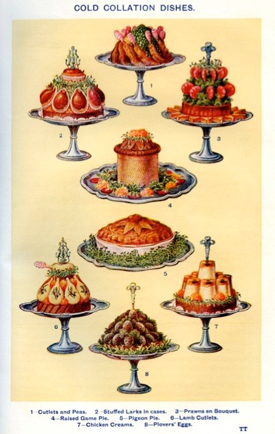 "Illustrations of some of the recipes featured in 'Mrs Beeton's Book of Household Management', first published in 1861.""Victorian food has had a rather rough press,"" says food historian Annie Gray. (Getty Images)"