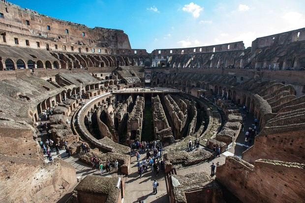 Gladiatorial arenas which feature in Game of Thrones likely take their cue from structures such as the Colosseum in Rome, says Lushkov. (Photo by Franco Origlia/Getty Images)