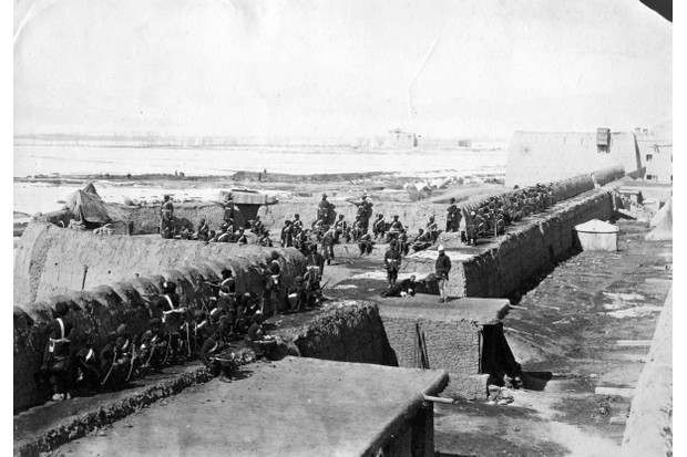 General Sir Frederick Roberts' troops behind fortifications at Kabul during the Second Afghan War, 1878-1880. (Photo by Capt James Burke/Getty Images)