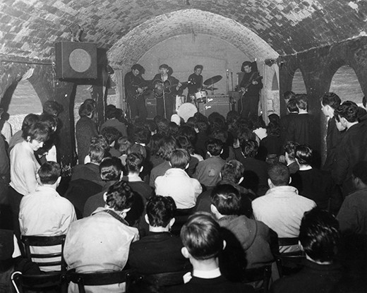 A packed crowd watching the Merseybeats playing at Liverpool's Cavern Club.   (Photo by John Pratt/Getty Images)