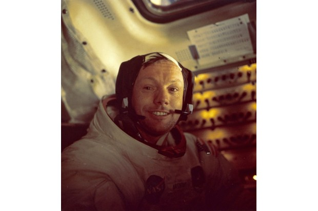 American astronaut Neil Armstrong, the first man to walk on the moon as commander of the Apollo 11 lunar mission. (MPI/Getty Images)