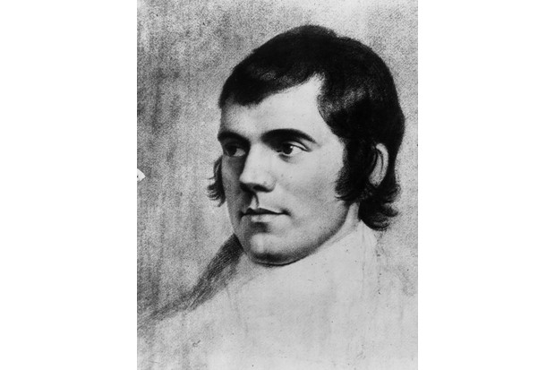 Robert Burns, c1785. Original artwork is a drawing by Skirving. (Photo by Hulton Archive/Getty Images)