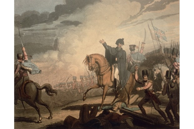 The Duke of Wellington commanding his troops at the battle of Waterloo. Original artwork engraved by T Fielding after a drawing by R Westall. (Photo by Hulton Archive/Getty Images)