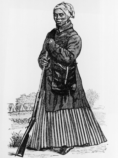 An engraving of Harriet Tubman. (Hulton Archive/Getty Images)