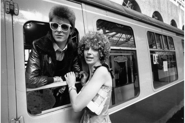 David Bowie and Angela Barnett
