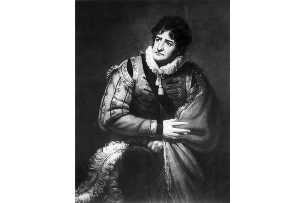 Portrait of actor GF Cook as Iago in a production of Shakespeare's 'Othello', c1790. In the play, the character uses the word 'trash'. (Photo by Rischgitz/Getty Images)