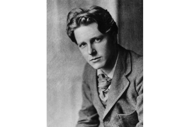 Rupert Brooke, pictured in around 1913. Brooke's poetry captured the idealism of Britain's early war effort. (Getty Images)