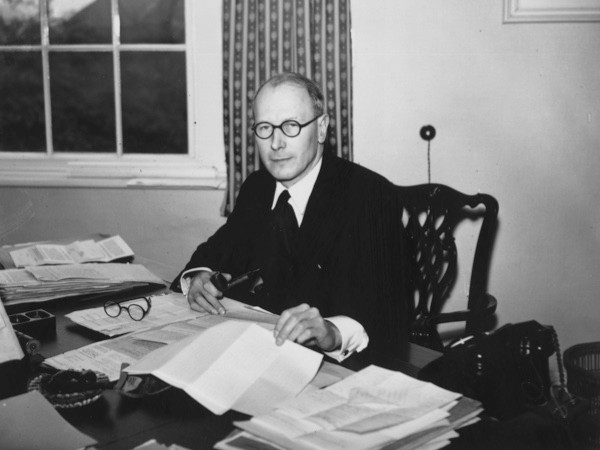 "John Wolfenden in 1956, shortly before he led an investigation into the law on homosexuality. ""The Wolfenden Report was important is establishing the ideas that homosexuality should be decriminalised in private,"" says Florence Sutcliffe-Braithwaite. (Getty Images)"