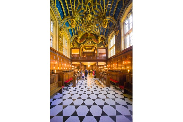 Interior of Chapel Royal at Hampton Court Palace