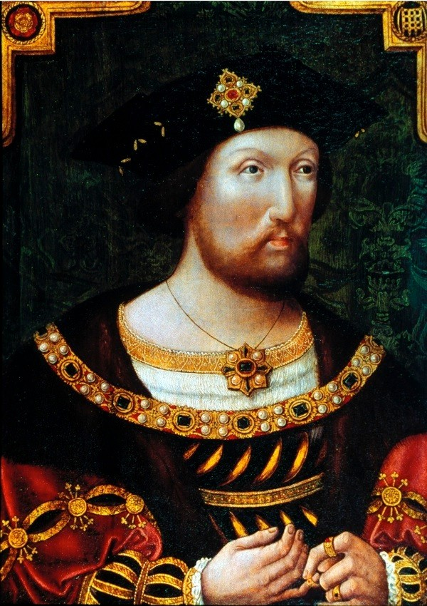 Henry VIII, King of England, c1520. Henry (1491-1547) succeeded his father, Henry VII, in 1509. Obsessed with passing the throne on to a male heir, he had six wives in the course of his reign, none of whom provided him with a son who survived. In divorcing his first wife, Catherine of Aragon, in 1533, Henry severed the English church from Rome. (Photo by Ann Ronan Pictures/Print Collector/Getty Images)
