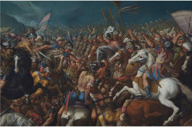 The fight between Scipio and Hannibal at the battle of Zama. (Fine Art Images/Heritage Images/Getty Images)