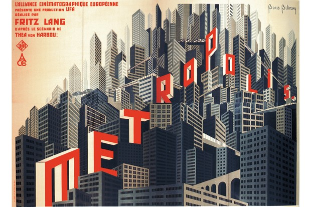 Movie poster Metropolis by Fritz Lang, 1926. From a private collection. (Photo by Fine Art Images/Heritage Images/Getty Images)