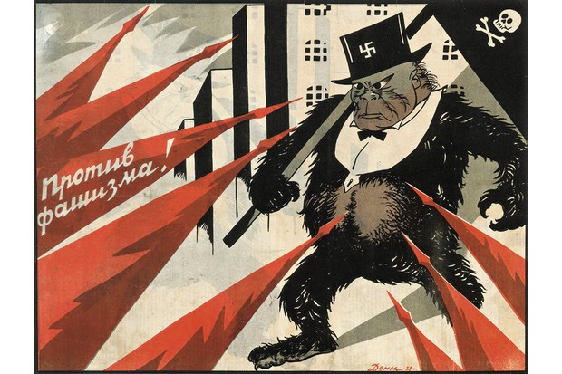 A Russian propaganda illustration from 1929 shows the force of opposition to fascism. Conversely, Hitler was determined to halt the spread of communism. (Getty Images)