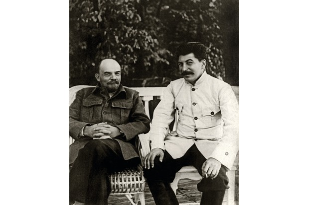 Lenin and Josef Stalin in discussion in 1922. After Lenin's death two years later, Stalin rose to power and instituted rapid industrialisation and agricultural collectivisation. (Getty Images)
