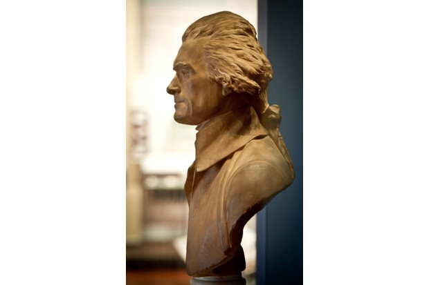 The bust of Thomas Jefferson, one of the US Founding Fathers and a former US president. (Photo credit: MLADEN ANTONOV/AFP/Getty Images)