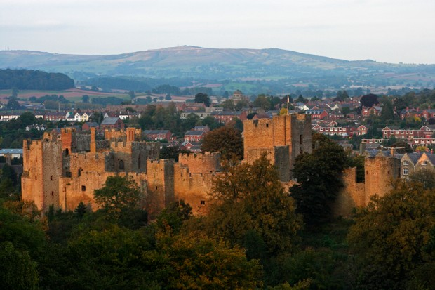 A view of Ludlow Castle in Shropshire.
