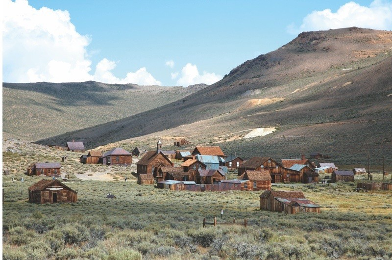 USA, California, Bodie Ghost Town, View of small town area (Photo by: JTB Photo/UIG via Getty Images)