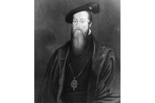 A portrait of Thomas Seymour (1508 - 1549), from the original by Holbein. (Photo by Hulton Archive/Getty Images)