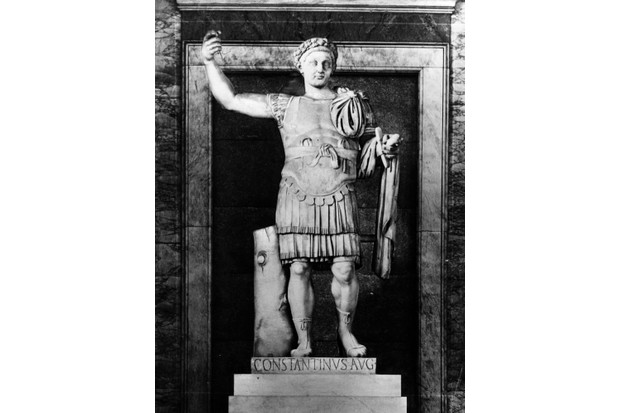 Constantine I, also known as Constantine the Great, was the first Roman emperor to profess Christianity. (Hulton Archive/Getty Images)
