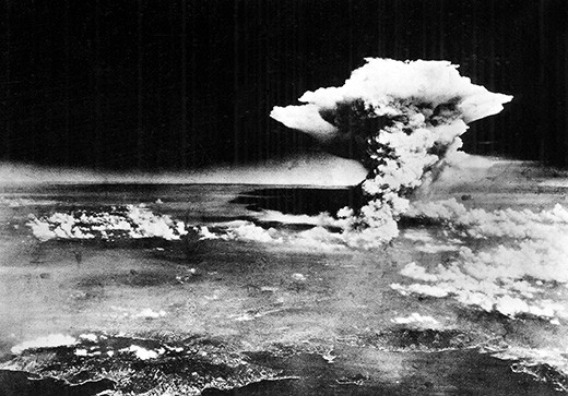 The Japanese city of Hiroshima shortly after the US dropped the atomic bomb