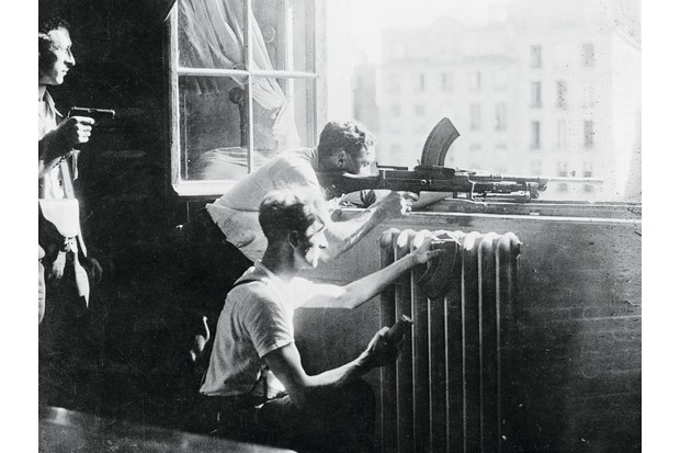 The French Resistance aim at German snipers during the Second World War