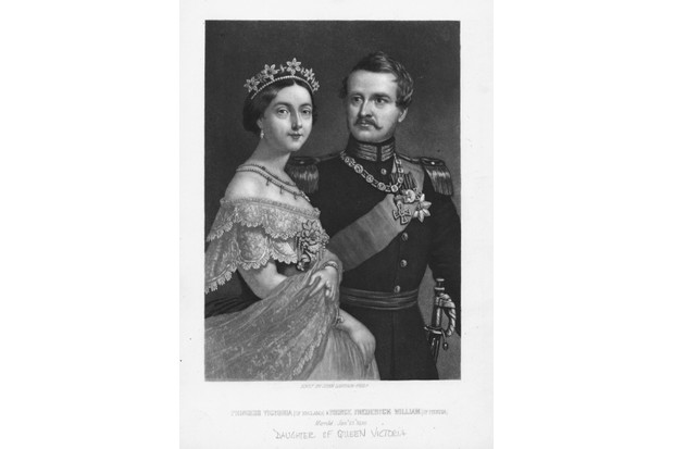 Portrait of Princess Victoria, daughter of Queen Victoria, and Prince Frederick William of Prussia