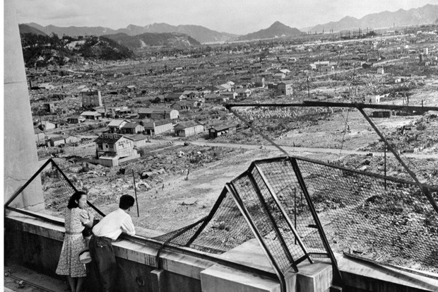 This photo dated 1948 shows the devastated city of Hiroshima some three years after the US dropped an atomic bomb on the city on 6 August 1945, at the end of World War 2. Around 140,000 people, or more than half of Hiroshima's population at the time, died in the first atomic bombing – with another 70,000 people perishing in the bomb dropped over Nagasaki 9 August 1945. (Photo credit should read AFP/AFP/Getty Images)