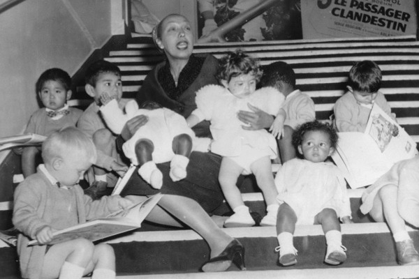 Josephine Baker with some of her adopted children