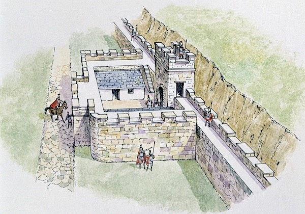 A depiction of how one of the watchtowers along Hadrian's Wall may have looked. (Photo by DeAgostini/Getty Images)