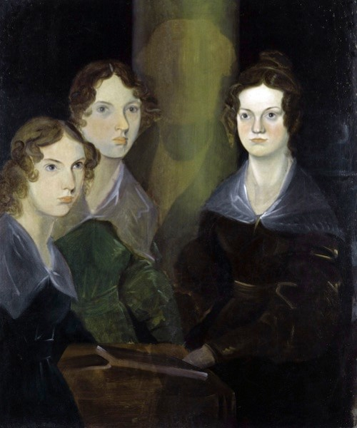 A painting of the Brontë sisters by their brother Branwell Brontë. The erased male figure – previously covered by a painted pillar – is thought to be that of Bramwell himself. (Getty Images)