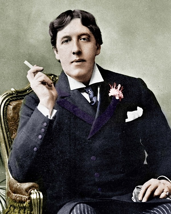 Colourised photograph of Oscar Wilde from around 1870. (Roger Viollet Collection/Getty Images)