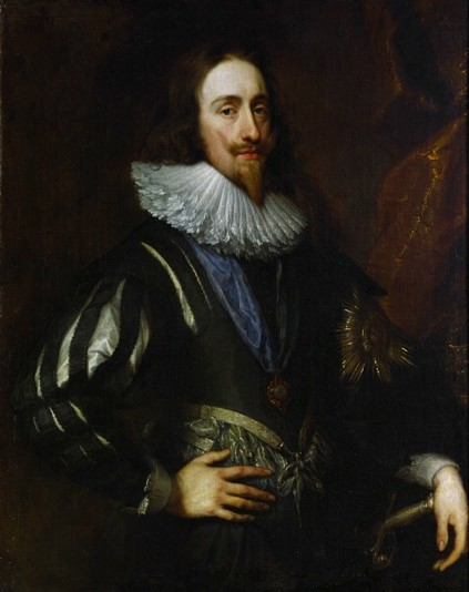 Charles I., König von England (1600-1649), Sohn von James I. und Anne von Dänemark. Charles I. wurde auf Befehl von Oliver Cromwell und seinem eliminierten Parlament 1649 in London enthauptet Charles I, King of England (1600-1649), son of James I and Anne of Denmark. Charles I was beheaded in London in 1649, upon order of Oliver Cromwell and his purged parliament.