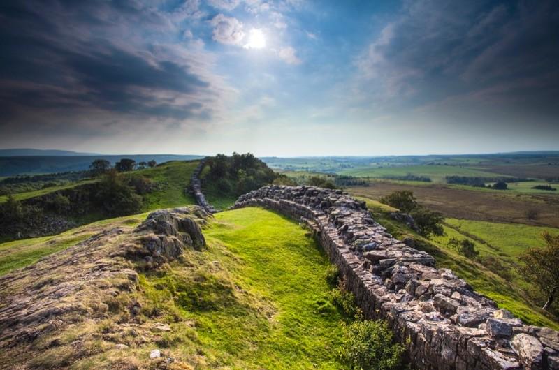 Hadrian's Wall in Northumberland. (Loop Images/UIG via Getty Images)