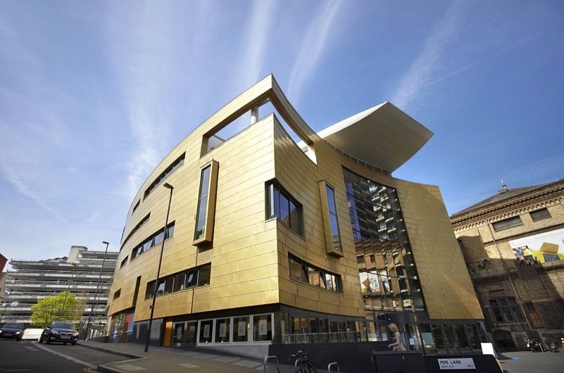 Exterior of the new foyer of Colston Hall, a concert hall first opened in 1867.