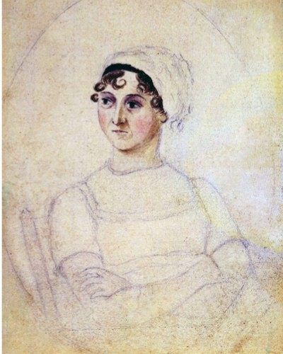 Colour portrait of Jane Austen dated 1810, drawn by her sister Cassandra. (Getty Images)