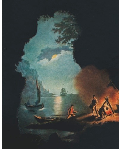 18th-century smugglers land a cargo of contraband in a cave, as imagined in an early 20th-century illustration. Smuggling was rife along the Cornish coastline, which was dotted with secluded coves. (Photo by Getty)