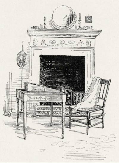 Jane Austen - The parlour in Chawton cottage with the desk where the English novelist worked 1775-1817