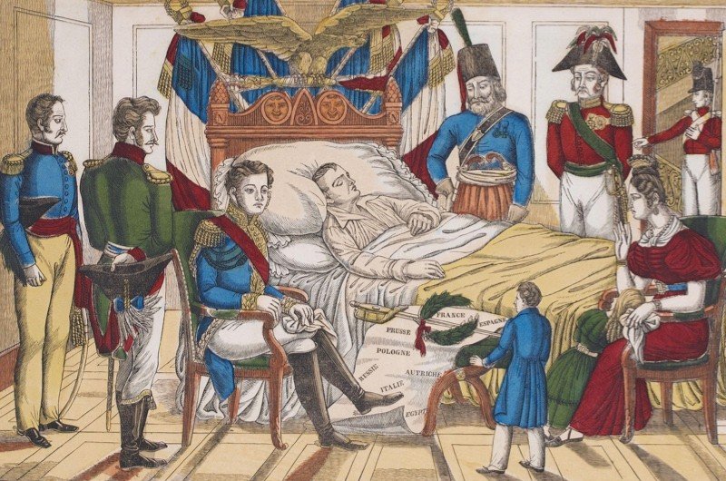 Napoleon Bonaparte on his deathbed. (Photo by Fine Art Images/Heritage Images/Getty Image)