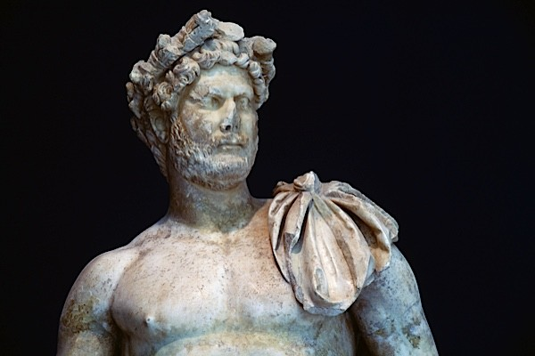Marble statue of Roman emperor Hadrian. (Photo by DeAgostini/Getty Images)
