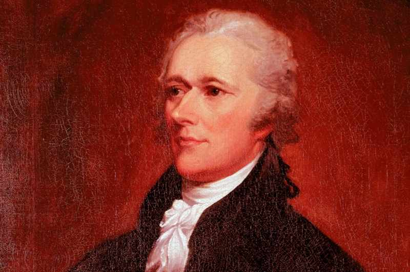 A portrait of Alexander Hamilton by John Trumbull, 1806. (Photo by IanDagnall Computing/Alamy Stock Photo)