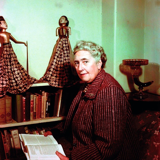 English detective novelist Agatha Christie, who created the characters Hercule Poirot and Miss Marple. (Photo by Popperfoto/Getty Images)