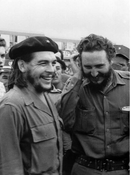 Castro with guerilla leader Ernesto 'Che' Guevara during the 1960s