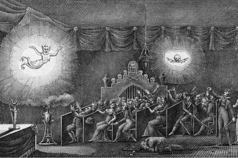 A phantasmagoria by Belgian entertainer Etienne-Gaspard Robert, whose stage name was Etienne Robertson, 1797. (Photo by Kean Collection/Archive Photos/Getty Images)