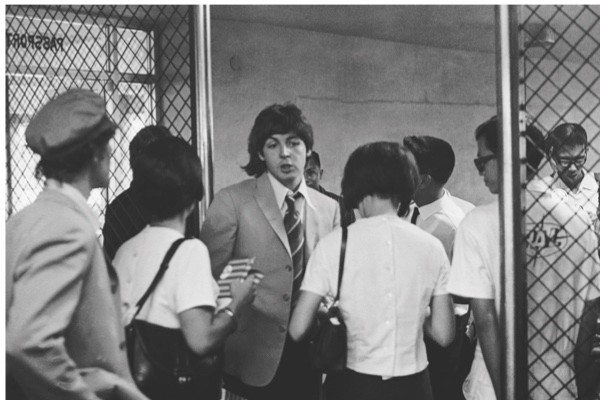 Paul McCartney at Manila International Airport after the Philippines leg of the Beatles' final world tour, 5th July 1966. The group made a hasty exit from the country after a perceived snub on President Ferdinand Marcos and his wife Imelda resulted in official hostility, including the withdrawal of police protection for the group. (Photo by Robert Whitaker/Getty Images)A hasty exit from Manila: Paul McCartney at the airport, where the Beatles were intimidated on departure from the Philippines. The band left under a cloud after their failure to turn up for a party was seen as a snub to President Marcos and his wife, Imelda. (Getty Images)