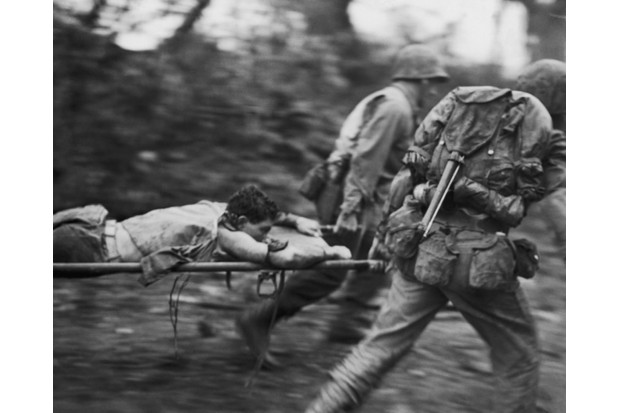 Okinawa was to witness a blood bath of barbaric savagery, says historian James Holland. (Photo by PFC Lewis Giffin/FPG/Hulton Archive/Getty Images)